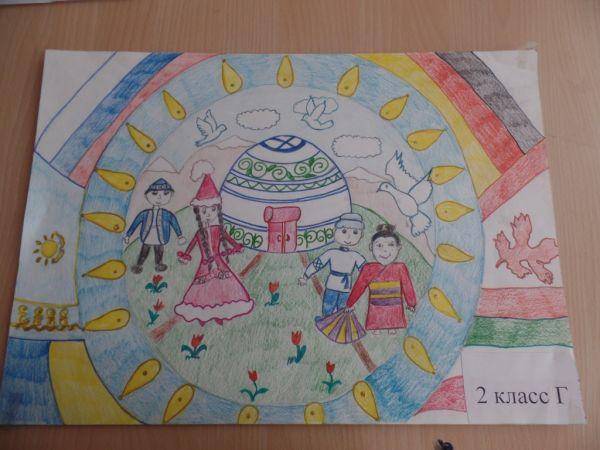 глазами рисунки казахстан ребенка