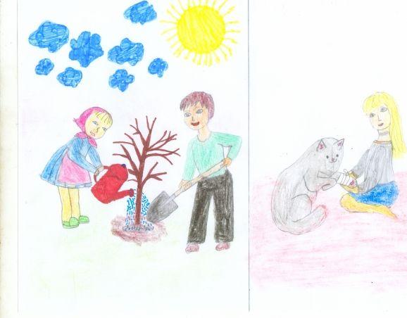 Для срисовки, доброта в картинках рисунки